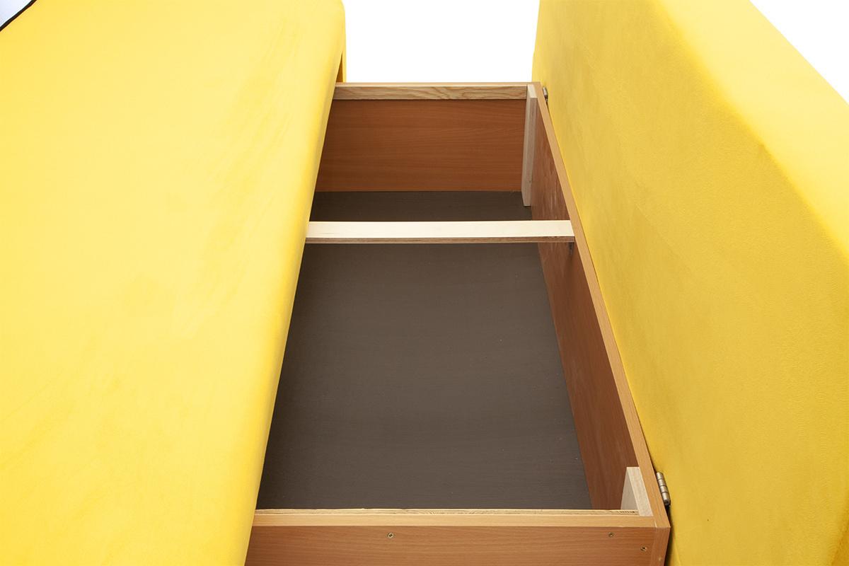 Прямой диван со спальным местом Хуго Ящик для белья