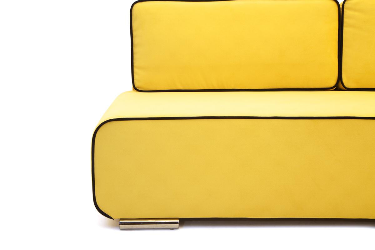 Прямой диван со спальным местом Хуго Ножки