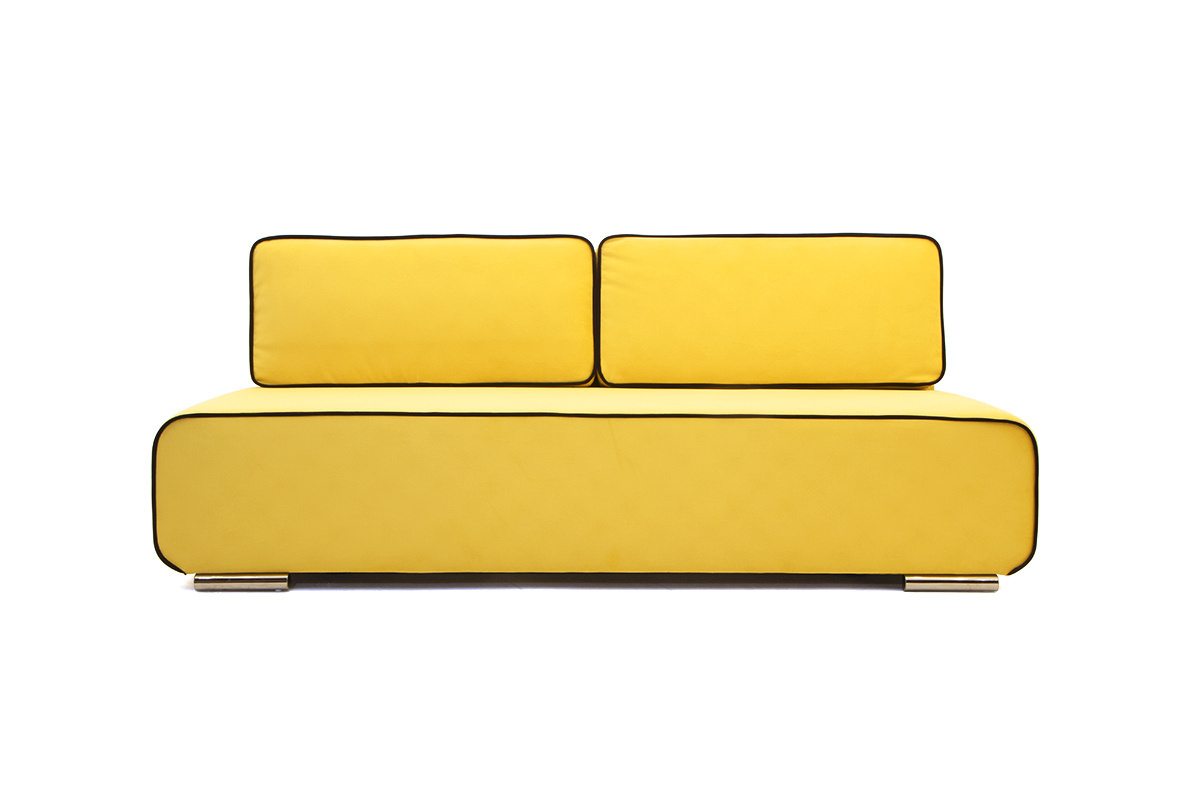 Прямой диван со спальным местом Хуго Вид спереди