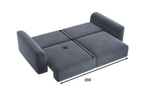 Прямой диван со спальным местом Сиэтл MФ (DiHall) Спальное место